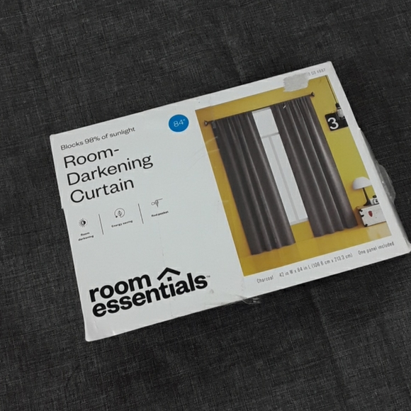Room Essentials Charcoal Curtain Panel